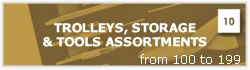TROLLEYS, STORAGE & TOOLS ASSORTMENTS